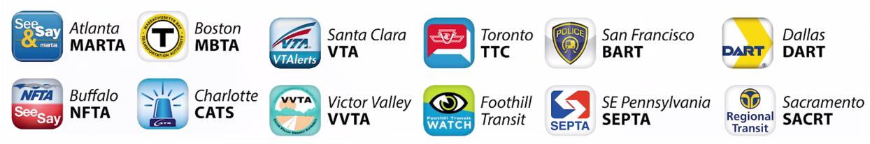 12 transit icons