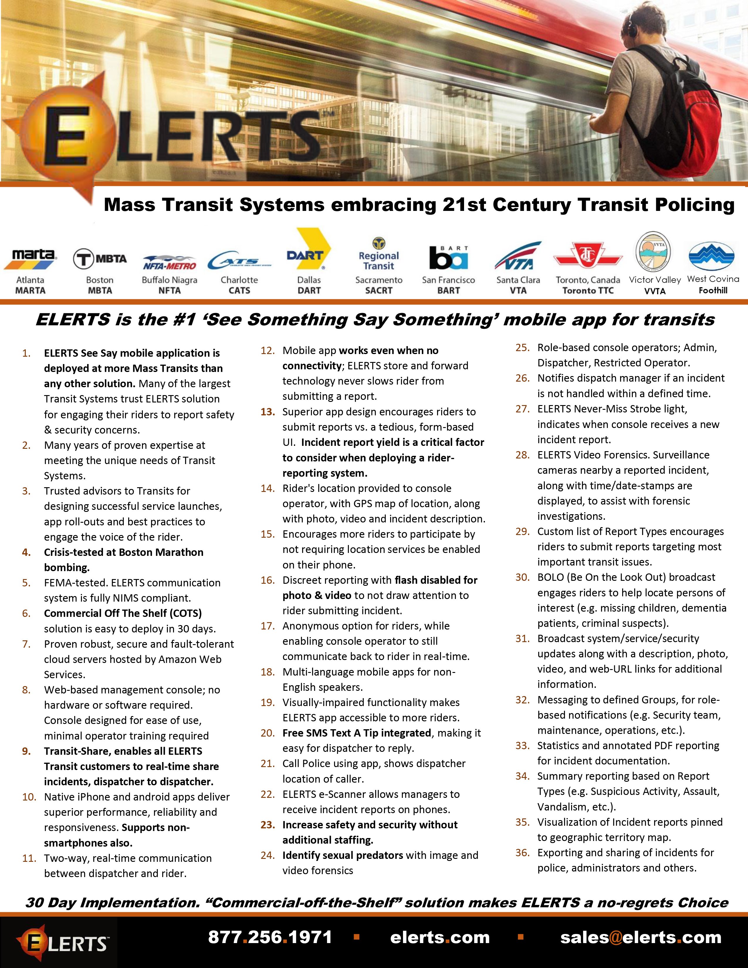 ELERTS transit benefits 2017