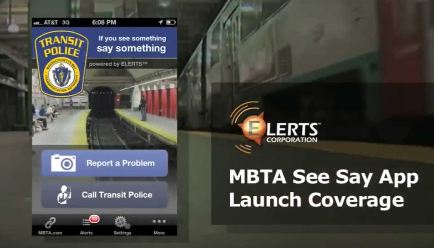 ELERTS MBTA See Say App